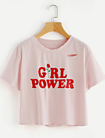 cheap -Women's Active T-shirt - Letter