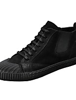 cheap -Men's Shoes Pigskin Winter Comfort Sneakers for Casual Black