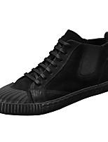 Недорогие -Муж. обувь Свиная кожа Зима Удобная обувь Кеды для Повседневные Черный