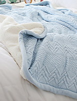 cheap -Knitted, Yarn Dyed Solid Colored Cotton Blankets