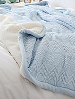baratos -Tricotado, Fios Tingidos Sólido Algodão cobertores