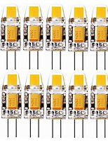 abordables -SENCART 10pcs 2W 240-280 lm G4 LED à Double Broches T 1 diodes électroluminescentes COB Décorative Blanc Chaud Blanc Froid 12V