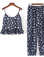 cheap -Women's Short Shirt - Geometric, Print Pant Strap