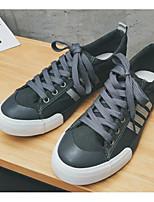 preiswerte -Herrn Schuhe Leinwand Frühling Herbst Komfort Sneakers für Normal Schwarz Dunkelblau Grau Gelb