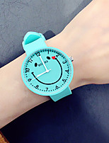 cheap -Men's Women's Fashion Watch Casual Watch Chinese Quartz Chronograph Silicone Band Creative Fashion Black White Clover Sky Blue