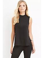 cheap -Women's Blouse - Solid, Ruffle