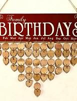 abordables -Mariage / Nouvelle Année En bois Décorations de Mariage Famille Toutes les Saisons