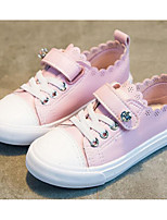 cheap -Girls' Shoes PU Spring Fall Comfort Sneakers for Casual White Black Pink