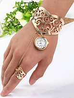 cheap -Women's Bracelet Watch Chinese Quartz Casual Watch Stainless Steel Band Bangle Gold