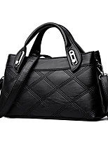 cheap -Women's Bags PU Tote Embossed for Casual Office & Career All Seasons Blue Black Red Gray Purple