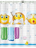 cheap -Shower Curtains & Hooks Modern Polyester Novelty Machine Made Waterproof