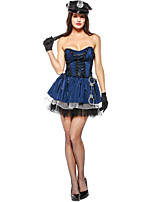 cheap -Witch Police Halloween Carnival Birthday Oktoberfest Festival / Holiday Halloween Costumes Ink Blue Color Block Vampires Animal