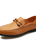 cheap -Men's Shoes Nappa Leather Spring Fall Comfort Loafers & Slip-Ons for Casual Office & Career Black Light Brown Dark Brown