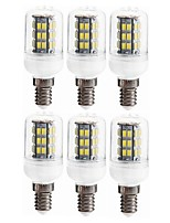 preiswerte -SENCART 6pcs 5W 800 - 1200lm E14 GU10 LED Mais-Birnen T 42 LED-Perlen SMD 5730 Dekorativ Warmes Weiß 12V