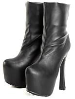 preiswerte -Damen Schuhe PU Herbst Winter Stiefeletten Komfort Stiefel Plattform Booties / Stiefeletten für Normal Schwarz