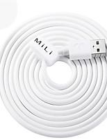 abordables -Eclairage Adaptateur de câble USB Charge rapide Haut débit Câble Pour iPhone 200 cm PVC