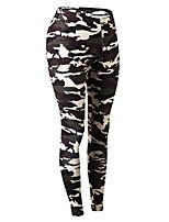 preiswerte -Damen Laufhosen Atmungsaktivität Hosen/Regenhose Übung & Fitness Polyester Weiß Armeegrün Rot/Weiß Grün/schwarz S M L XL