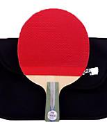Недорогие -DHS® R5006 Ping Pang/Настольный теннис Ракетки Дерево Ластик 5 Звезд Короткая рукоятка Прыщи