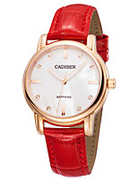cheap -CADISEN Women's Fashion Watch Casual Watch Japanese Quartz Water Resistant / Water Proof Casual Watch Noctilucent Leather Band Elegant