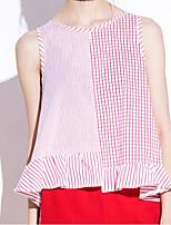 cheap -Women's Simple Cotton Tank Top - Striped