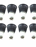 cheap -8pcs 5.5W 6.5W 600 lm GU10 LED Spotlight 1 leds COB Warm White Cold White 220-240V