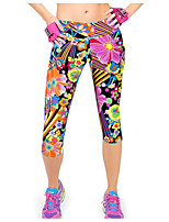 cheap -women's normal polyester medium print legging, geometric rainbow