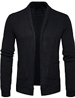 cheap -Men's Cardigan - Solid Color V Neck