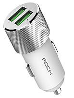 baratos -Carregador Automotivo Carregador USB do telefone USB QC 2.0 Tês/Extensões Portas Multiplas 2 Portas USB 1.5A 2.0A 2.4A 3,0A 3.4A DC 24V