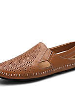 cheap -Men's Shoes Nappa Leather Spring Summer Comfort Loafers & Slip-Ons for Office & Career Party & Evening White Black Brown Blue