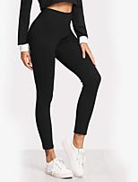 abordables -Mujer Deportivo Legging - Letra, Estampado Alta cintura