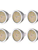 cheap -YWXLIGHT® 6pcs 7W 600-700 lm MR16 GU5.3 LED Spotlight 48 leds SMD 2835 Warm White Cold White Natural White DC 12V