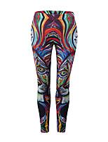 abordables -Femme Basique Sportif Legging - Couleur Pleine, Imprimé Taille médiale