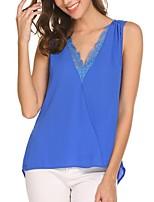 cheap -Women's Blouse - Color Block, Lace Strap
