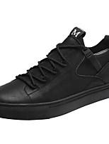 Недорогие -Муж. обувь Полиуретан Кожа Весна Осень Удобная обувь Кеды для Повседневные Черный Серый