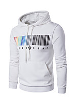 cheap -Men's Sports Street chic Long Sleeves Long Hoodie - Striped Hooded