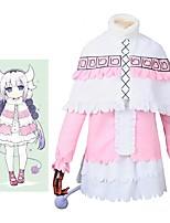 baratos -Inspirado por Miss Kobayashi's Dragon Maid Fantasias Anime Fantasias de Cosplay Ternos de Cosplay Outro Manga Longa Camisa Saia Meias