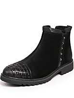 cheap -Men's Shoes Nubuck leather Spring Fall Combat Boots Boots Booties/Ankle Boots for Casual Outdoor Black