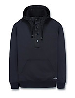 cheap -Men's Hoodie - Solid Color, Pleated Hooded
