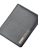 cheap -Men's Bags Cowhide Wallet Embossed for Casual Office & Career All Seasons Coffee