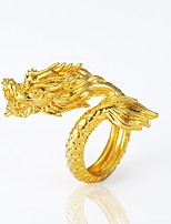 cheap -Men's Statement Ring , Gold Copper Gold Plated Dragon Animals Statement Jewelry Halloween Carnival Costume Jewelry