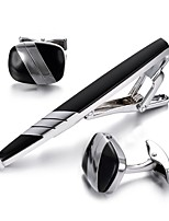 cheap -Black Cufflinks Tie Clips Bohemian European Party Gift Men's Costume Jewelry