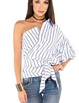 Недорогие -Жен. Рубашка С открытыми плечами Винтаж Полоски