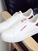 cheap -Men's Shoes PU Spring Fall Comfort Sneakers for Casual Black Red Black/White
