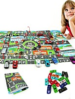 cheap -10Pcs Cars &1Pcs Map 83*58CM City PARKING LOT Roadmap Toy Car Toys Car Vehicles Maps Metal Alloy Pieces