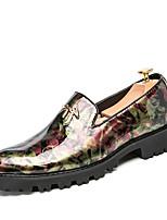 Недорогие -Муж. обувь Искусственное волокно Кожа Наппа Leather Весна Лето Мокасины Удобная обувь Мокасины и Свитер Для прогулок для Повседневные на