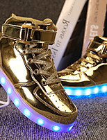 cheap -Boys' Shoes PU Spring Fall Light Up Shoes Comfort Sneakers Walking Shoes LED Hook & Loop Lace-up for Casual Outdoor Gold Black Silver