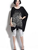 cheap -Women's Holiday Basic Cotton Loose T-shirt - Geometric, Print