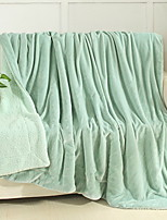 cheap -Coral fleece, Reactive Print Solid Colored Cotton / Polyester Polyester Blankets