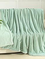 baratos -Velocino de Coral, Impressão Reactiva Sólido Algodão / Poliéster Poliéster cobertores