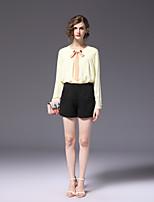 cheap -FRMZ Women's Simple Bootcut Shorts Pants - Solid Colored